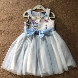 Girls floral with tulle dress